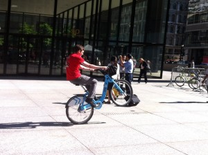 chicago bike to work rally 2013 joel wheelie divy