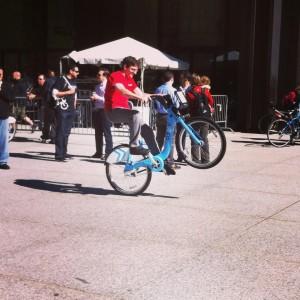 chicago bike to work rally 2013 joel wheelie divy