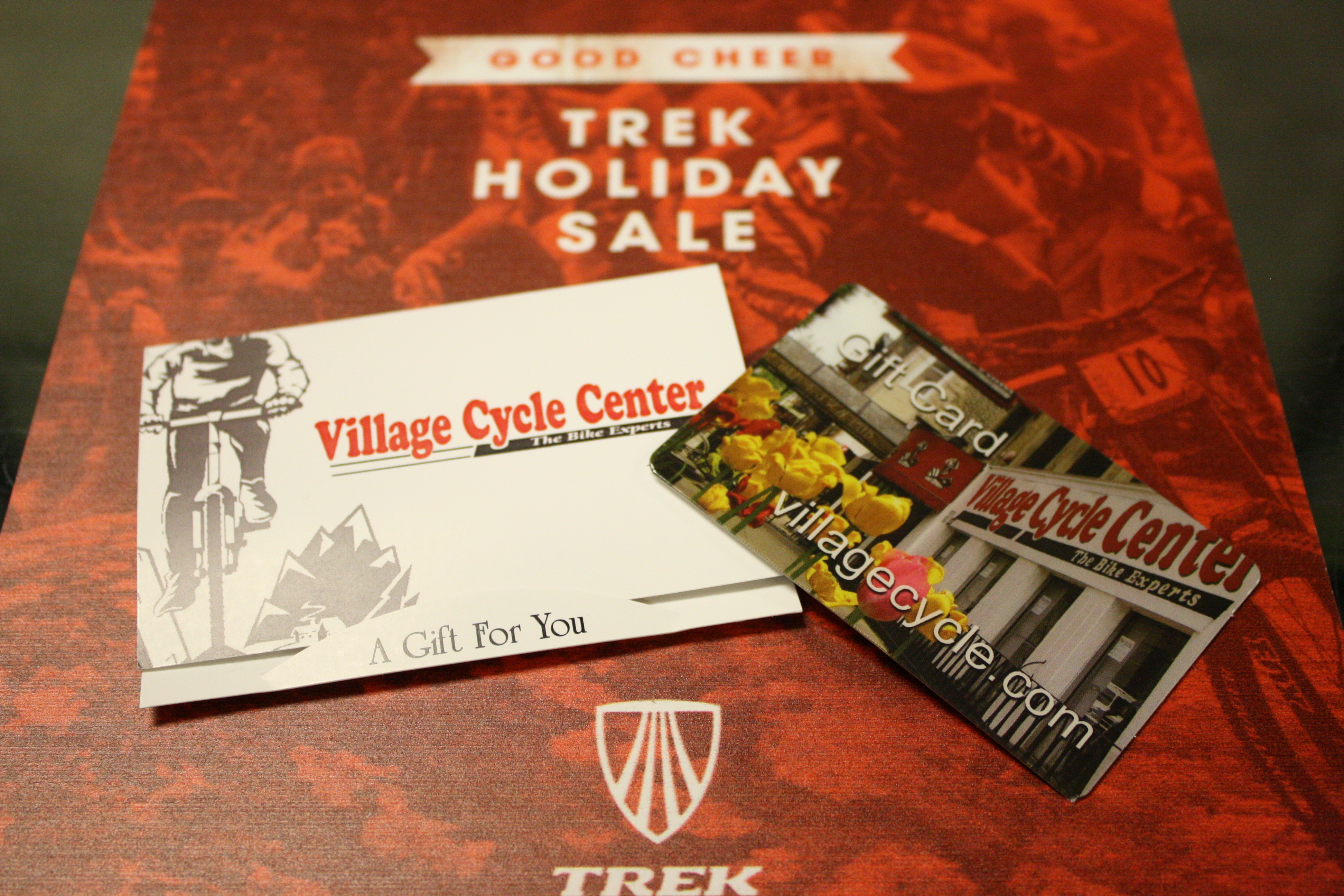 Gift cards from Village Cycle Center are perfect if you would someone to pick out their own gift