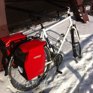 Llama's 2014 Trek 520 winter bike