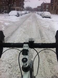Trek bike 520 snow ride commute