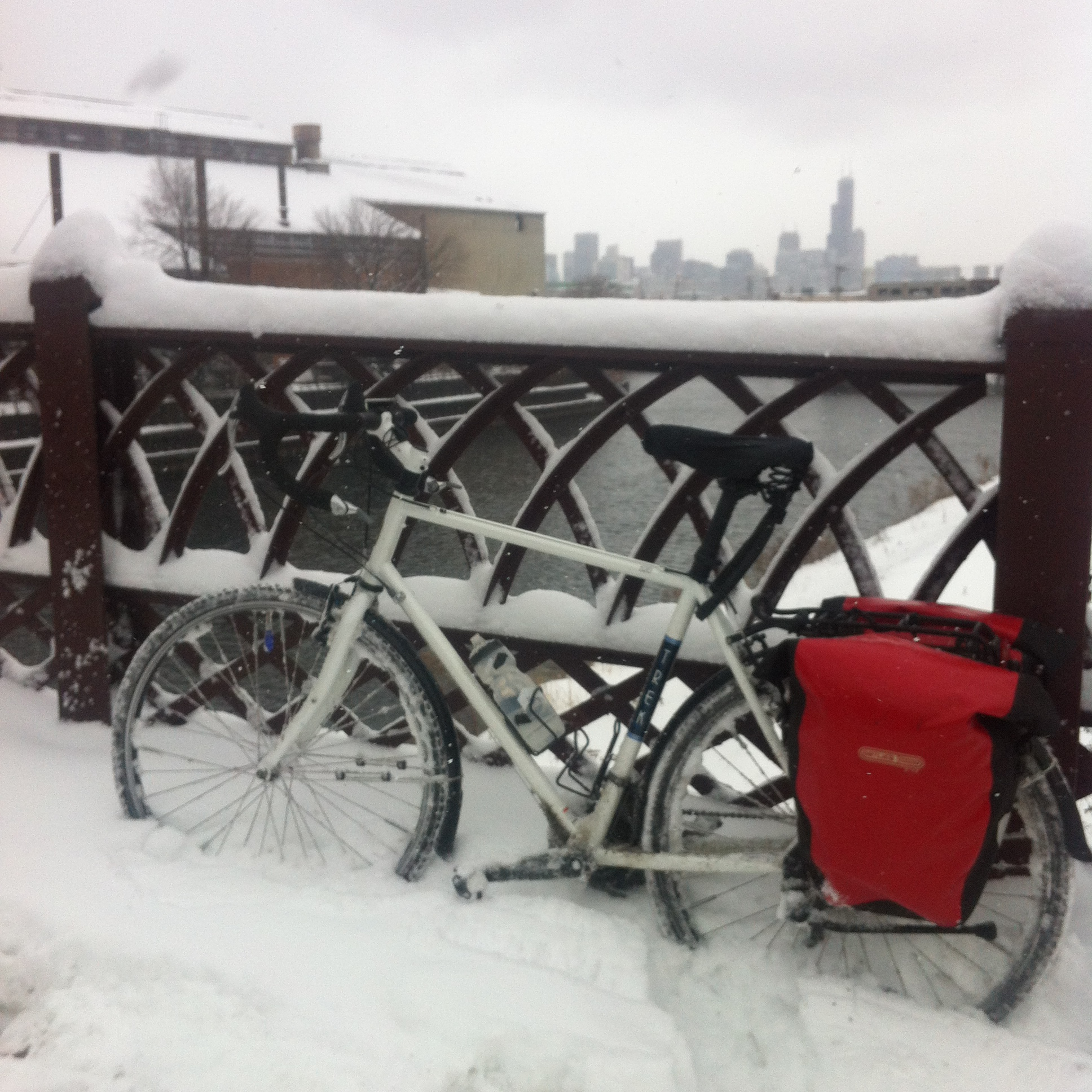 Snow Ride with My Trek Bike 520 - Village Cycle Center