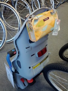 po campo bag can even be attached to topeak babyseat