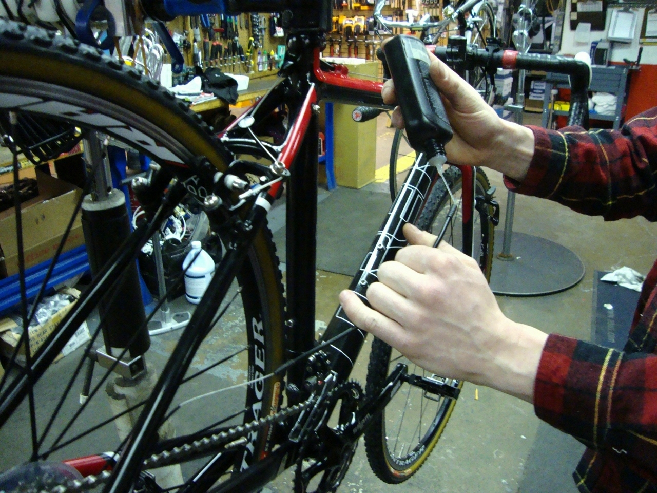 as part of the bike tune-up we ensure everything is properly lubricated