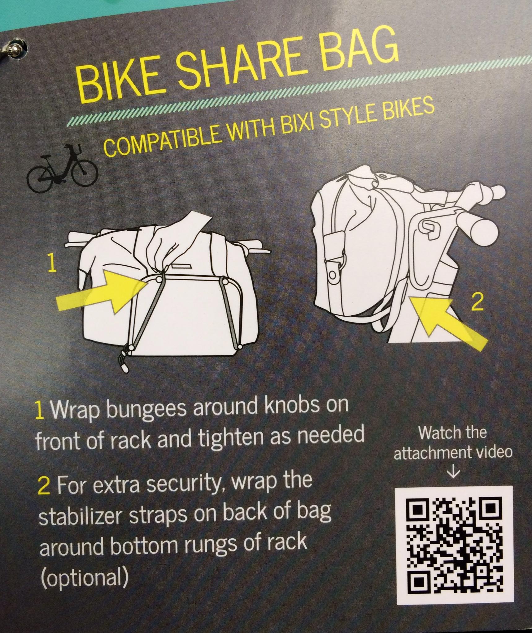 Divy Bike Share Bag the pro Po Campo bike bag