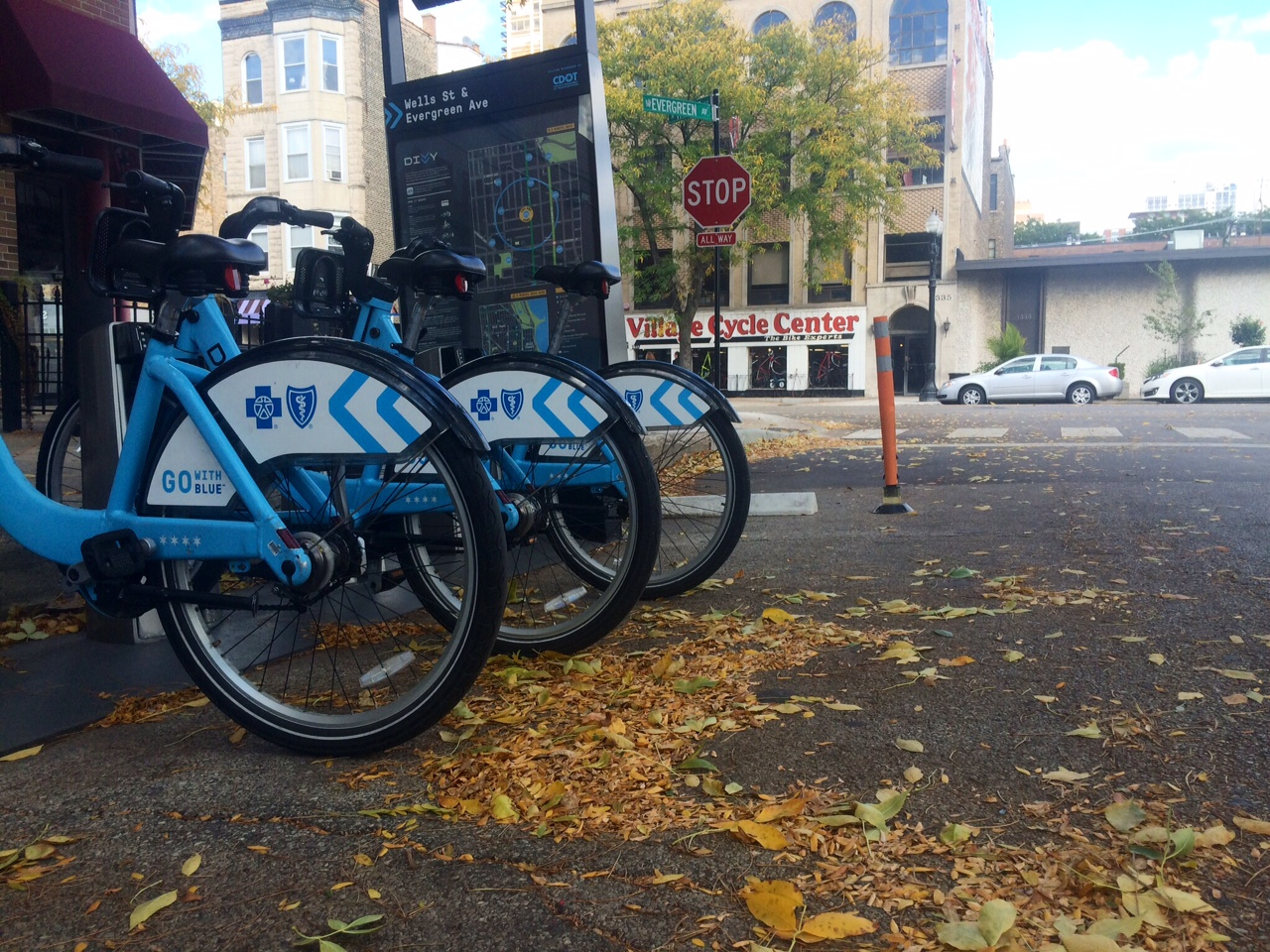 divvy station by village cycle center
