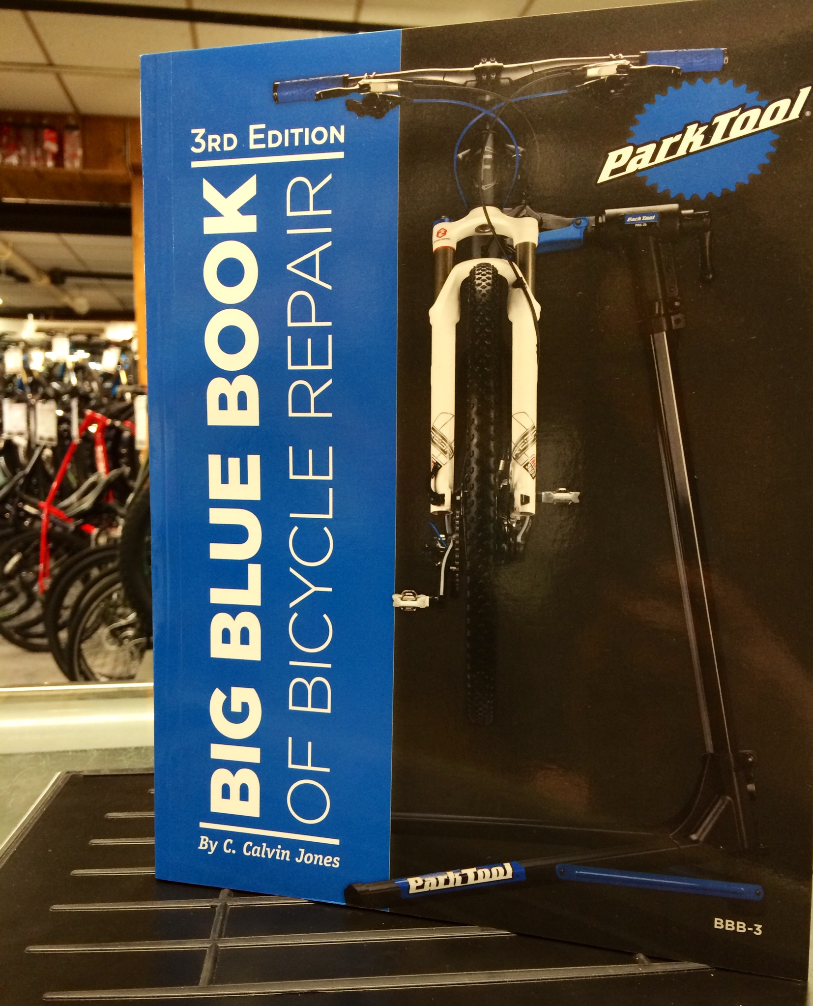 The park tool big blue book is a thorough bicycle repair book makes a great holiday gift