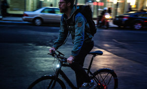winter biking tips - make sure you are visible