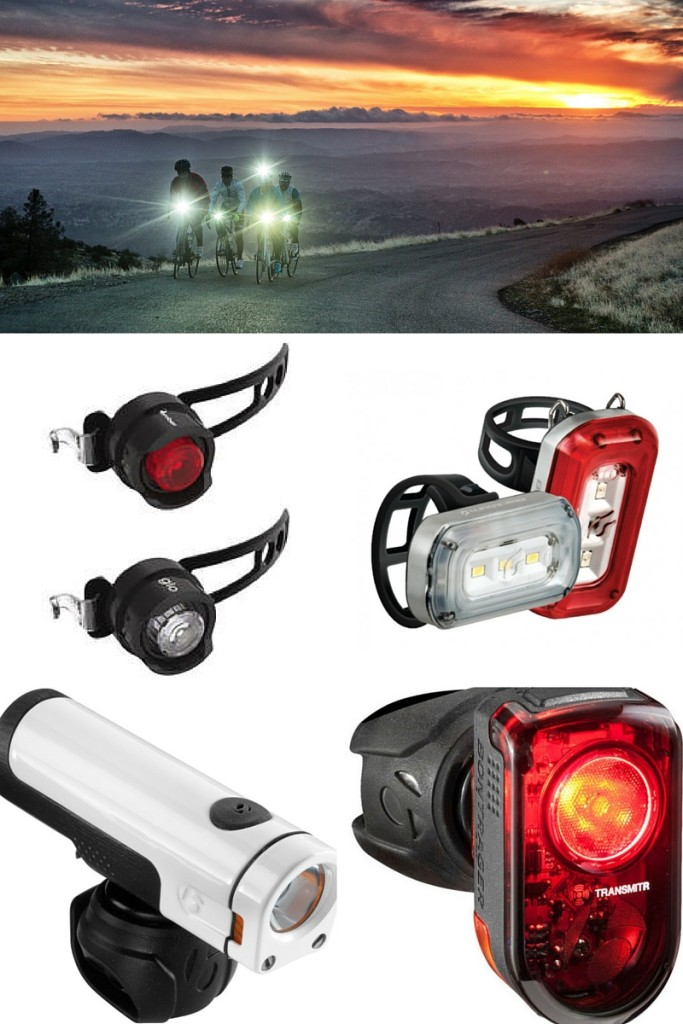 Selection of bike lights from bontrager and blackburn